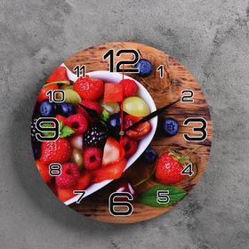 """Часы настенные, серия: Кухня, """"Ягодная любовь"""", 24 см"""