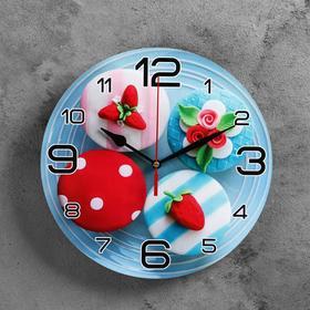"""Часы настенные, серия: Кухня, """"Мини тортики"""", 24 см"""