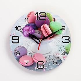 """Часы настенные, серия: Кухня, """"Макаруны"""", 24  см,стрелки  микс"""