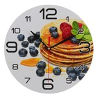 "Wall clock, series: the Kitchen, the ""Pancake with blueberries"", 24 cm"