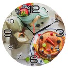"""Wall clock, series: the Kitchen, the """"Pancake with berries"""", 24 cm"""