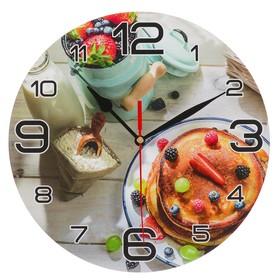 """Часы настенные, серия: Кухня, """"Панкейк с ягодами"""", 24 см в Донецке"""