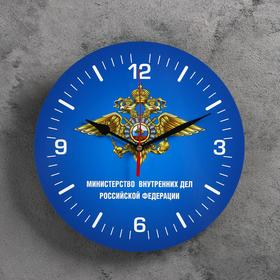 """Wall clock, series: Symbols, """"the interior Ministry of Russia"""", 24 cm"""
