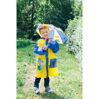 """Дождевик со светоотражающим элементом, детский """"Миньон""""с бананами, Гадкий Я , р-р S, рост 92-98 см"""