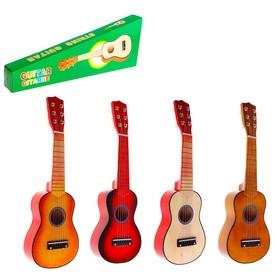 Игрушка музыкальная «Гитара» 52 см, 6 струн, медиатор, цвета МИКС