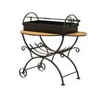 Мангал садовый на колёсах, с дровницей, сталь 2 мм