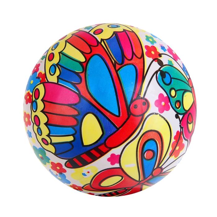 "Мяч ""Бабочки на солнечном шаре"", глянцевый, диаметр - 22 см, 100 гр"