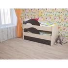 Кровать двухъярусная выкатная Матрешка 800х1600 с ящиком Венге/млечный дуб
