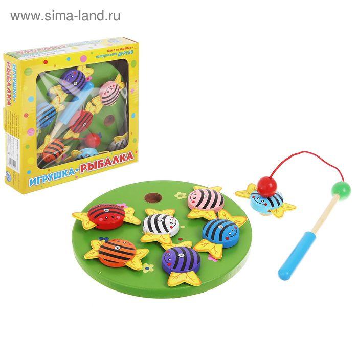 """Игра """"Рыбалка"""", магнитная, с пчелками и удочкой"""