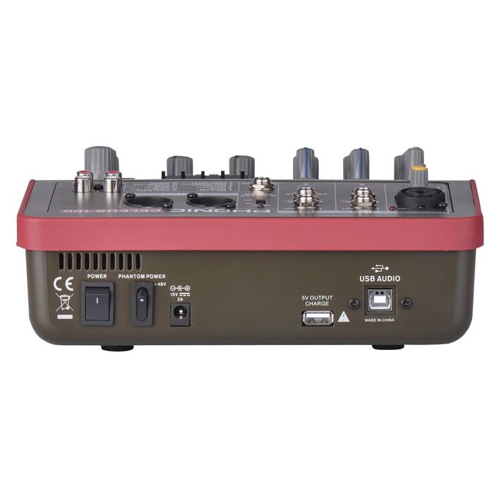 Микшер Phonic CELEUS 100 5-ти канальный, USB плеер/рекордер, USB аудиоинтерфейс,