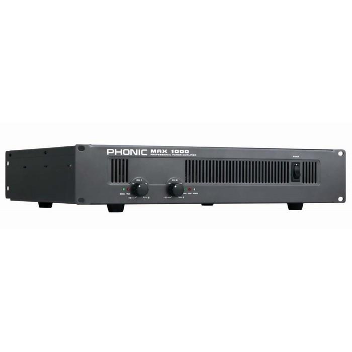 Усилитель Phonic MAX 1000 2х300Вт/4Ом (200Вт/8Ом bridge), 2U, вход: 2х XLR/Jack 6.3