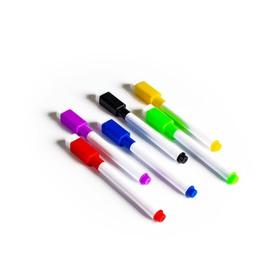 Маркер цветной на водной основе, набор 6 шт., без магнита