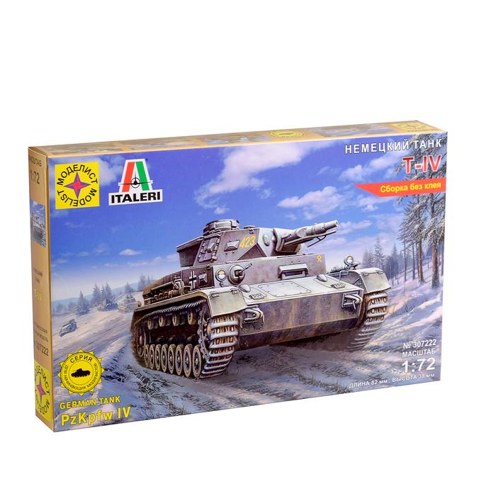 """Сборная модель """"Немецкий танк Т-IV"""" (1:72) 307222"""