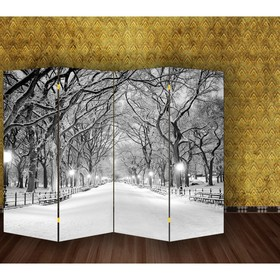 """Ширма """"Зимний парк"""", двухсторонняя, 200 × 160 см"""