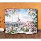 """Ширма """"Картина маслом. Розы и Париж"""" 200 × 160см, двухсторонняя"""