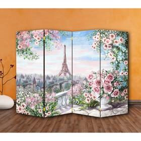 """Ширма """"Картина маслом. Розы и Париж"""", двухсторонняя, 200 × 160 см"""
