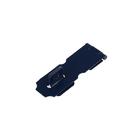 Накладка для навесного замка, с проушиной, L=76 мм, синяя