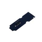 Накладка для навесного замка, с проушиной, L=98 мм, синяя