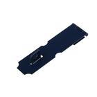 Накладка для навесного замка, с проушиной, L=120 мм, синяя