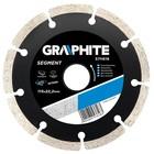 Диск отрезной алмазный GRAPHITE 57H616, сегментный, по бетону, сухой рез, 115 х 22.2 мм
