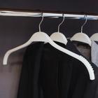 Вешалка-плечики для одежды, размер 44-46, антискользящие плечи, цвет белый - фото 8162015