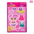 """Магнитная игра """"Одень куклу: Малышка Синди"""", 15 х 21 см"""