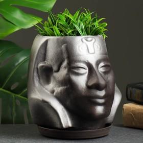 """Фигурное кашпо """"Аминхатеп"""", 17×15 см, черный"""