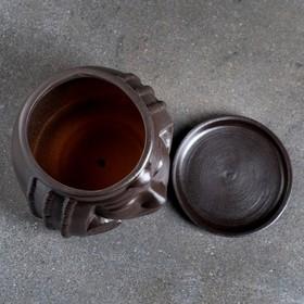 """Фигурное кашпо """"Клеопатра"""", 16×17×15 см, черный"""