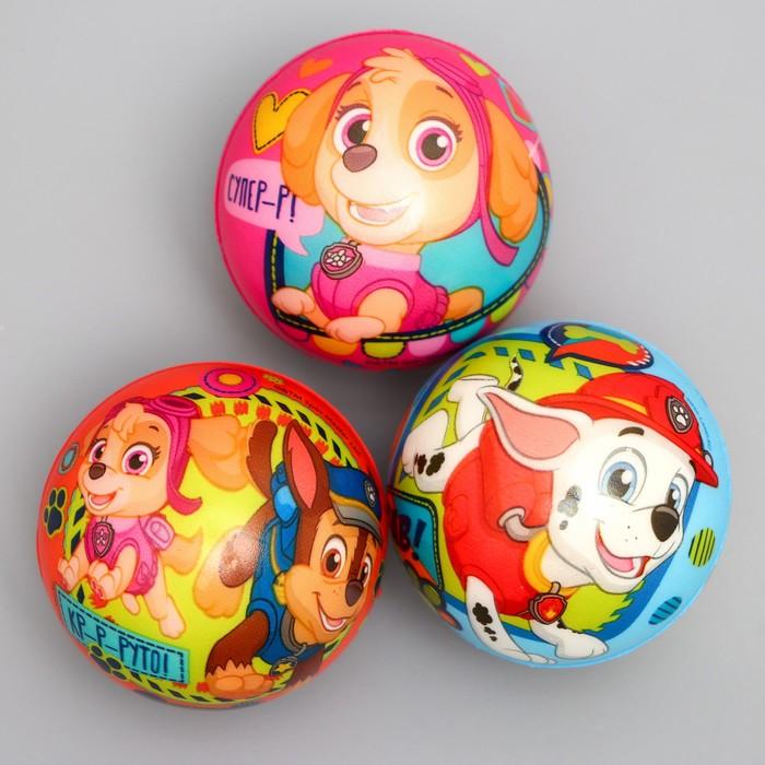 """Щенячий патруль. Мягкий мяч """"Щенки-молодцы!"""" 6,3 см, МИКС"""