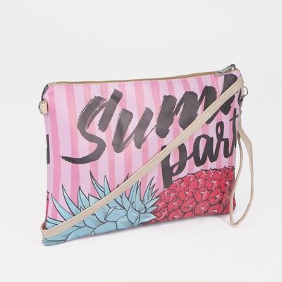 """Сумка-клатч с принтом """"Summer party"""", искусственная кожа"""