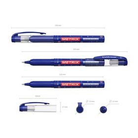 Ручка-роллер Erich Krause METRIX, узел 0.5, чернила синие *
