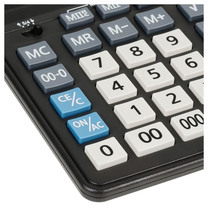 Калькулятор настольный 16-разрядный CDB1601BK 157х200х35 мм, двойное питание, чёрный - фото 509605170