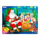 Пазл «Санта с детьми»