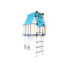 ДСК «Индиго L плюс», 930 × 1150 × 2260 мм, цвет голубой/белый/радуга