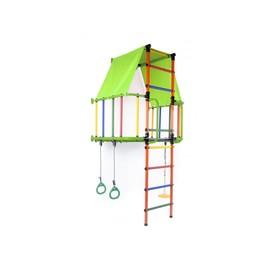 ДСК «Индиго L плюс», 930 × 1150 × 2260 мм, цвет салатовый/оранжевый/радуга