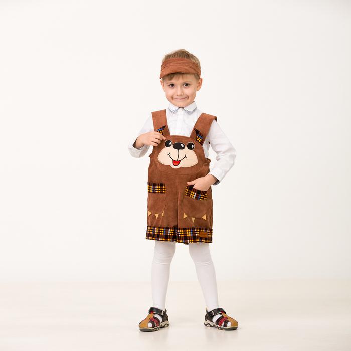 Карнавальный костюм «Медвежонок Топтыжкин», (комбинезон, кепи), размер 26