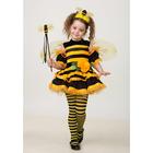 Карнавальный костюм «Пчёлка», велюр, размер 32, рост 122 см