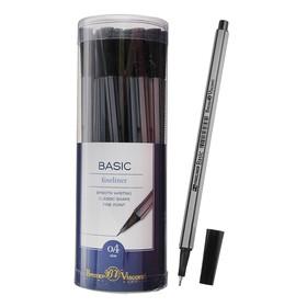 Ручка капиллярная Basic FINELINER, узел 0.4 мм, стержень чёрный