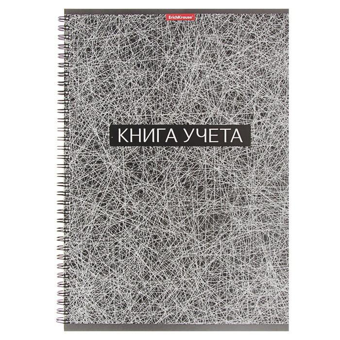 Книга учета А4, 90 листов линейка на гребне Erich Krause, матовая ламинация