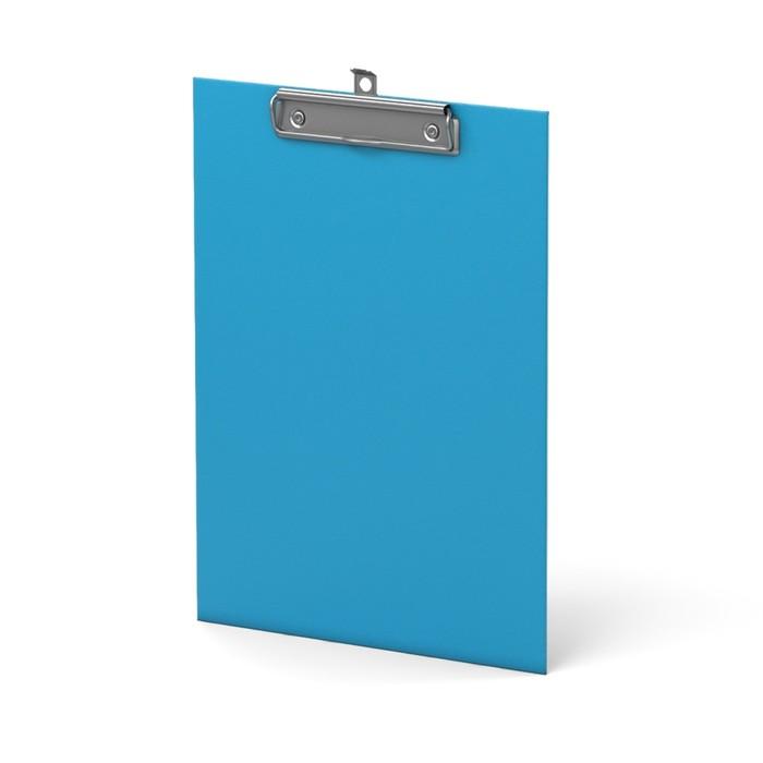 Планшет с зажимом А4 ErichKrause Neon, голубой - фото 282121609