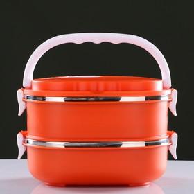 Ланч-бокс 'Гастрономия', внутри металл, 2 тарелки, 1,8л, микс Ош