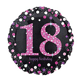 "Шар фольгированный 18"" Happy Birthday «18», 1 шт."