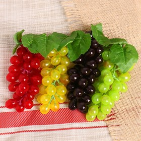 Artificial grapes, 36 berries, glossy, mix