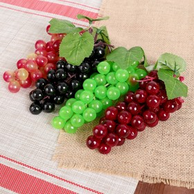 Artificial grapes, 46 berries, glossy, mix