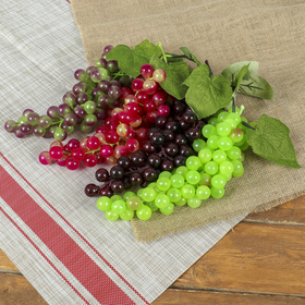 Artificial grapes, 85 berries, glossy, mix