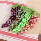 Искусственный виноград, 85 ягод, матовый, микс