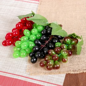 Artificial grapes (24 berries, glossy. mix color)
