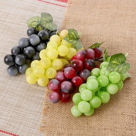 Artificial grape, 24 berries, Mat, mix