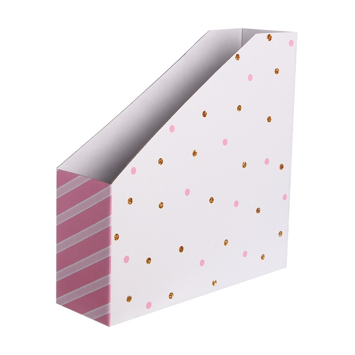 Органайзер для скрап бумаги «В горошек», 31 х 31 х 9,5 см