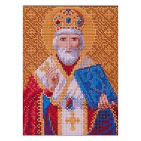 Алмазная мозаика «Святой Николай Чудотворец», 34 цвета